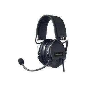 SWATCOM CC Supreme MIL-Spec Headband, Mic, Black Cups