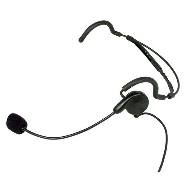 SWATCOM PBH-2 Behind the Head Headset with aux finger PTT